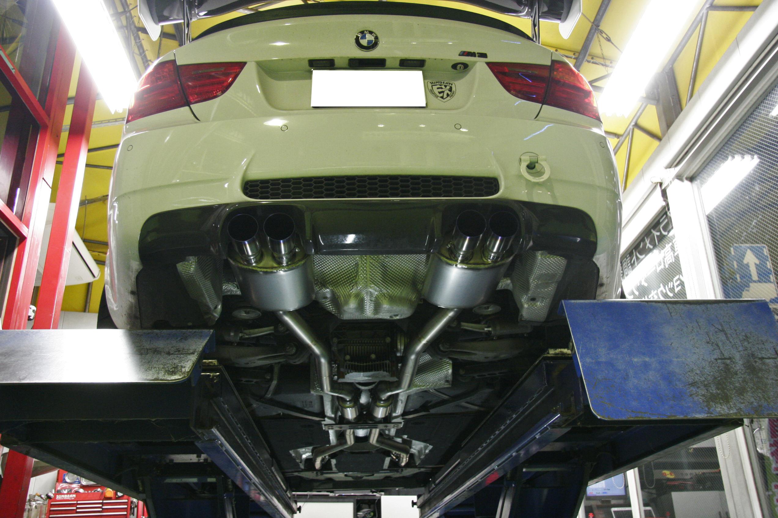 BMW E92/M3 フルチタンマフラー完成