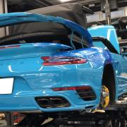Porsche 991 ターボS カブリオ KW Height Adjustable spring
