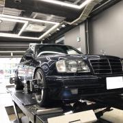 BENZ W124 500E アライメント調整