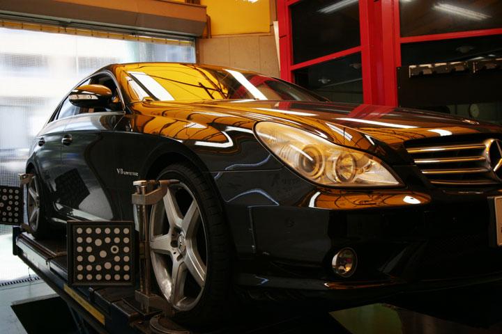 BENZ W219 AMG/CLS55 アライメント再び
