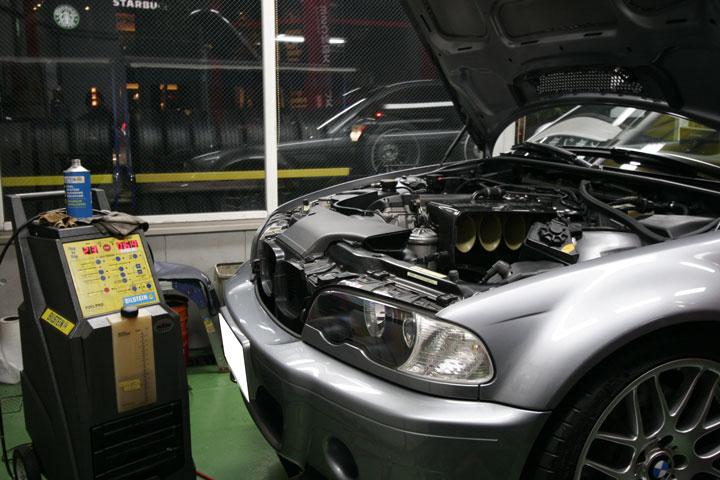 BMW E46/M3 CSL カーボンクリーン&クラッチ調整
