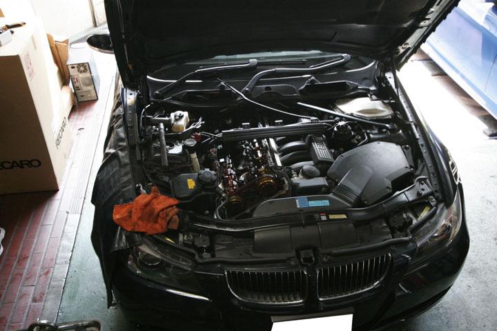 タペットカバーパッキン交換 BMW E90