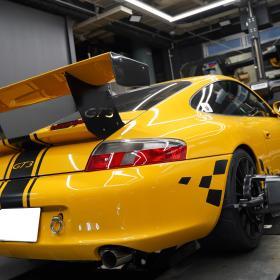 ポルシェ996 GT3 アライメント調整